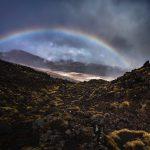 雨上がり、虹